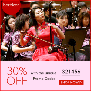 Event promotion—30% off tickets with unique Promo Code: 321456 for the Grand Chinese New Year Concert at the Barbican, London 2017